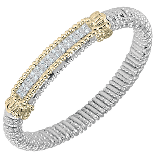 Buy Vahan Bracelets | Sterling Silver & 14K Gold | 0.26cttw Diamonds | 8mm Width | Shop Avonlea Jewelry only at Avonlea Jewelry.