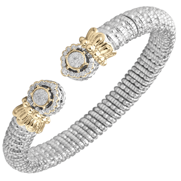 Buy Vahan Bracelets | Sterling Silver & 14K Gold | 0.29cttw Diamonds | 8mm Width | Shop Avonlea Jewelry only at Avonlea Jewelry.
