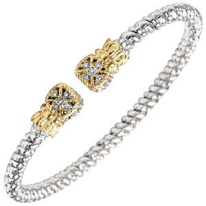 Buy Vahan Bracelets | Sterling Silver & 14K Gold | 0.08cttw Diamonds | 3mm Width | Shop Avonlea Jewelry only at Avonlea Jewelry.