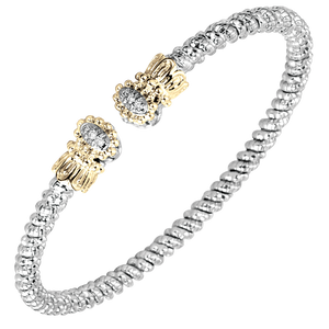 Buy Vahan Bracelets | Sterling Silver & 14K Gold | 0.06cts Diamonds | 3mm Width | Shop Avonlea Jewelry only at Avonlea Jewelry.