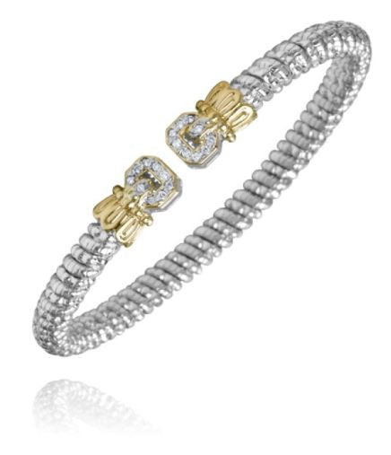 Buy VAHAN | Sterling Silver & 14K Gold | 0.14cts of Diamonds  | 4 mm Width | Shop VAHAN only at Avonlea Jewelry.