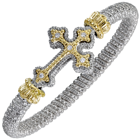 Buy VAHAN Sterling Silver & 14K Gold - 0.10cttw Diamonds - 6 mm Width | Shop Avonlea Jewelry only at Avonlea Jewelry.
