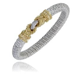 Buy VAHAN | Sterling Silver & 14K Gold | 0.15cts of Diamonds  | 4 mm Width | Shop VAHAN only at Avonlea Jewelry.