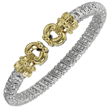 VAHAN Bracelets | 14K Yellow Gold and Sterling Silver Open Bangle Bracelet [VAHAN 2020]