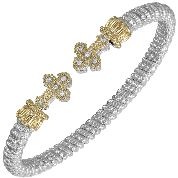 Buy VAHAN Sterling Silver & 14K Yellow Gold - 0.10cts of Diamonds - 4mm Width | Shop Avonlea Jewelry only at Avonlea Jewelry.