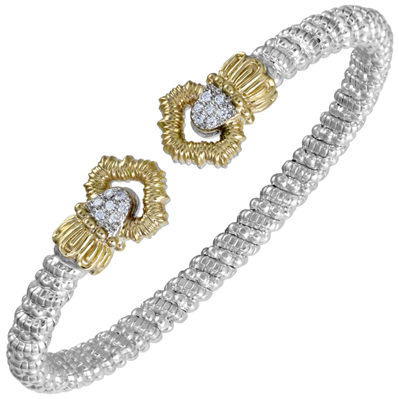 Buy VAHAN Sterling Silver & 14K Gold - 0.11cttw Diamonds - 4 mm Width | Shop Avonlea Jewelry only at Avonlea Jewelry.