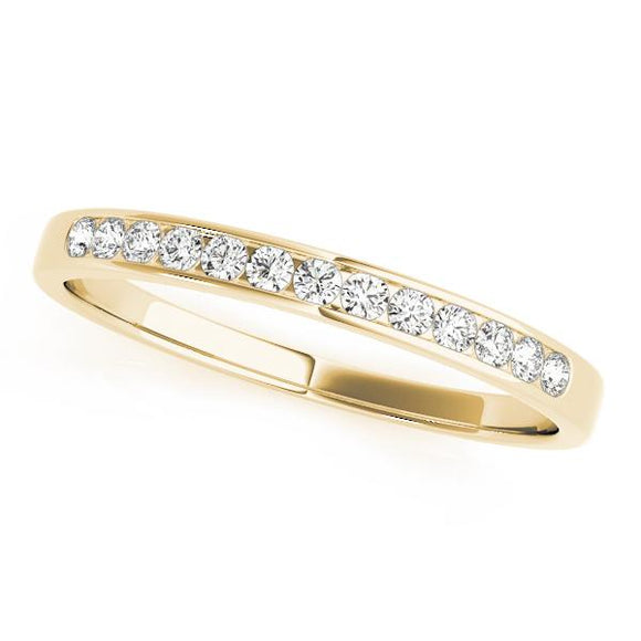 1/5cttw Channel Set Natural Diamonds | 14K Gold Wedding Band
