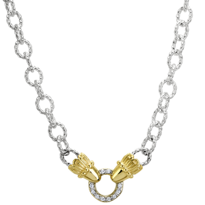 Buy Vahan Necklace | Sterling Silver & 14K Gold with 0.10cttw Diamonds | Shop Avonlea Jewelry only at Avonlea Jewelry.