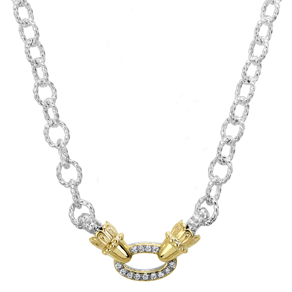 Vahan Necklaces: Vahan Jewelry for Women: Sterling Silver & 14K Gold with 0.13cttw Diamonds