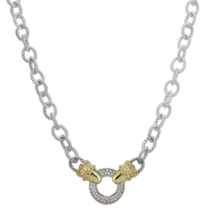 VAHAN Sterling Silver & 14K Gold Necklace - 0.30cts of Diamonds