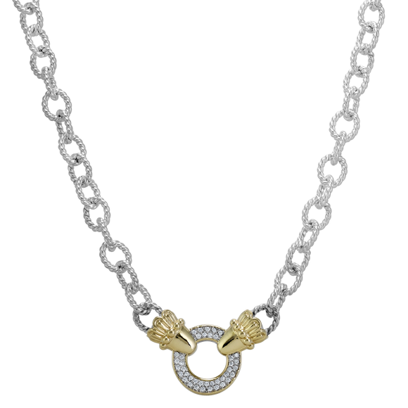 Buy VAHAN Sterling Silver & 14K Gold Necklace - 0.30cts of Diamonds | Shop Avonlea Jewelry only at Avonlea Jewelry.
