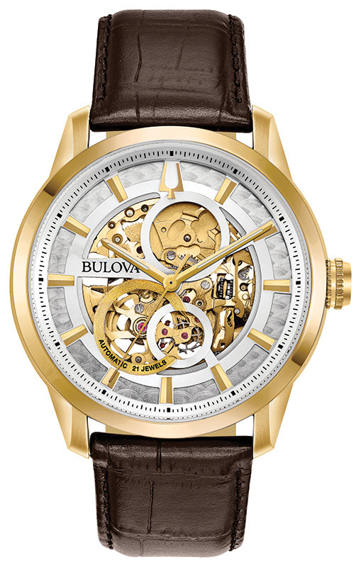 Buy BULOVA | Sutton Automatic Watch | Leather Strap | 2018 | Shop Bulova only at Avonlea Jewelry.