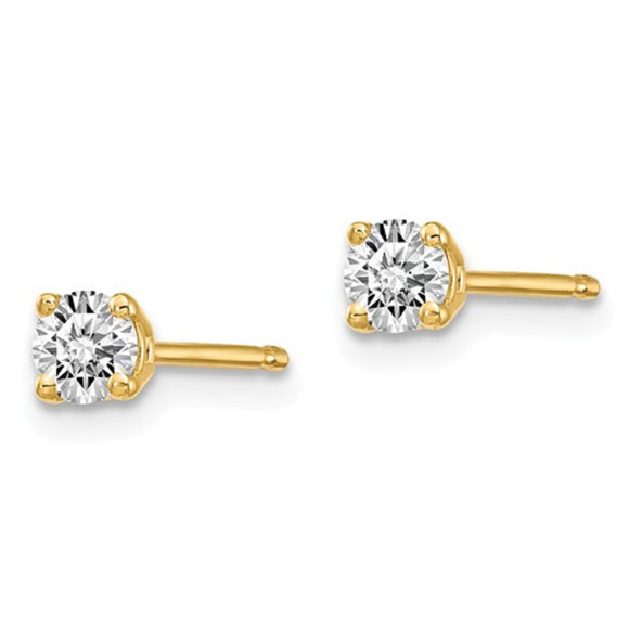 0.20ct to 1ct total weight Certified Lab Grown Diamonds Stud Earrings in 4-Prong 14K Gold Setting