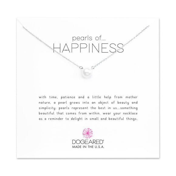 Buy DOGEARED | PEARLS OF HAPPINESS | SMALL WHITE PEARL NECKLACE | STERLING SILVER | Shop DOGEARED only at Avonlea Jewelry.