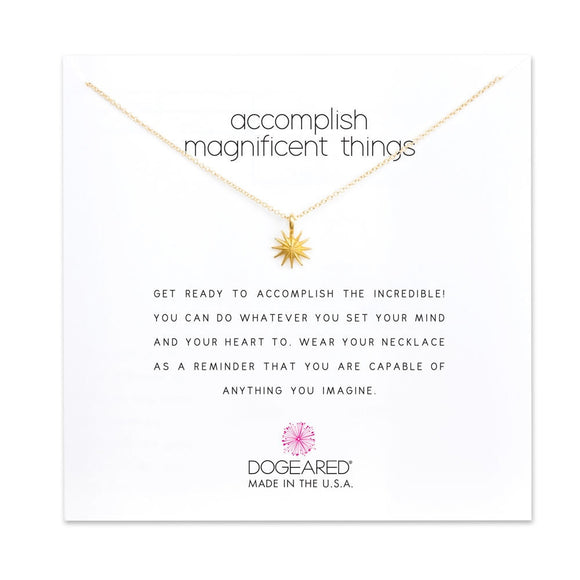 Buy DOGEARED | ACCOMPLISH MAGNIFICENT THINGS | STERLING SILVER & 14K GP | Shop DOGEARED only at Avonlea Jewelry.