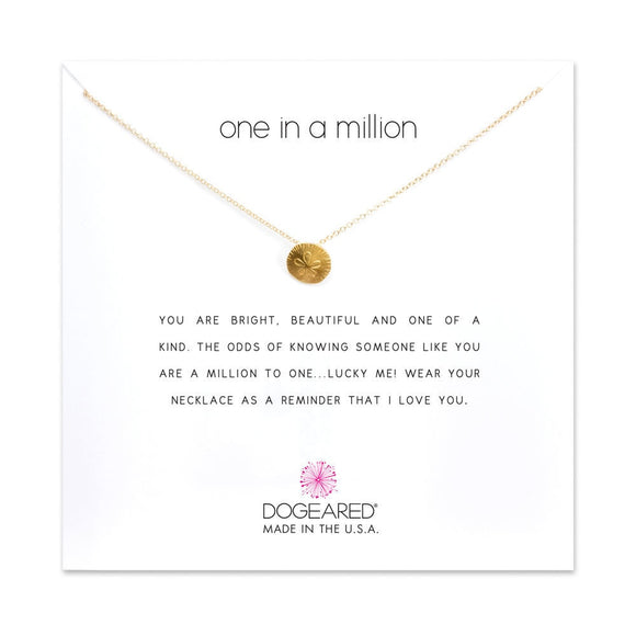 Buy DOGEARED | ONE IN A MILLION | NECKLACE | STERLING SILVER & 14K GP | Shop DOGEARED only at Avonlea Jewelry.