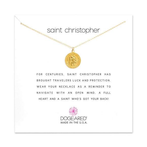 Buy DOGEARED | SAINT CHRISTOPHER | NECKLACE | STERLING SILVER & 14K GP | Shop DOGEARED only at Avonlea Jewelry.