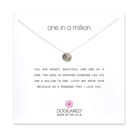 Buy DOGEARED | ONE IN A MILLION | CHARM NECKLACE | STERLING SILVER | Shop DOGEARED only at Avonlea Jewelry.
