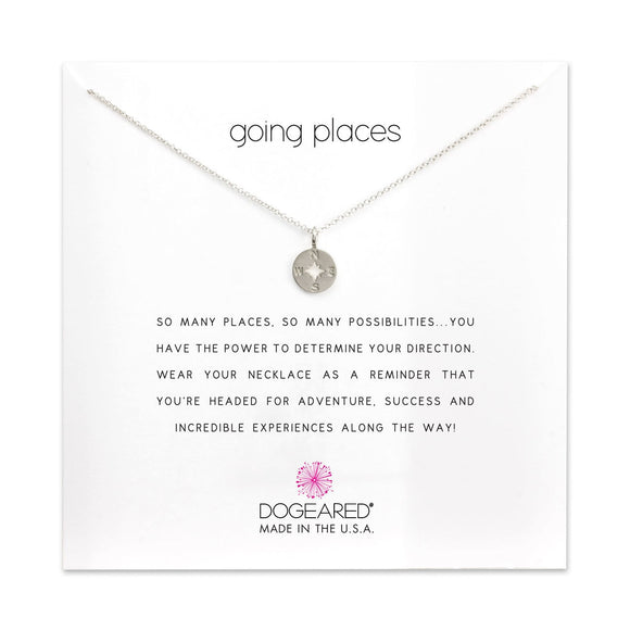 DOGEARED | GOING PLACES | COMPASS CHARM NECKLACE | STERLING SILVER