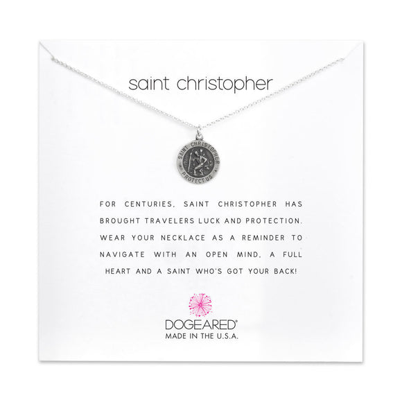 Buy DOGEARED | SAINT CHRISTOPHER | CHARM NECKLACE | STERLING SILVER | Shop DOGEARED only at Avonlea Jewelry.