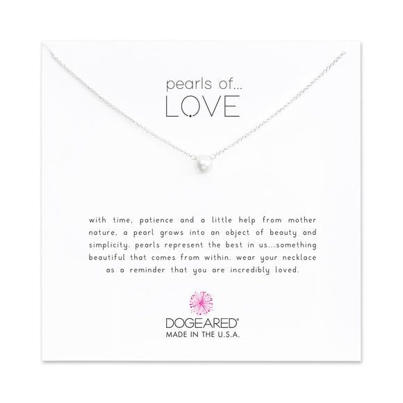 Buy DOGEARED | PEARLS OF LOVE | SMALL WHITE PEARL NECKLACE | STERLING SILVER | Shop DOGEARED only at Avonlea Jewelry.