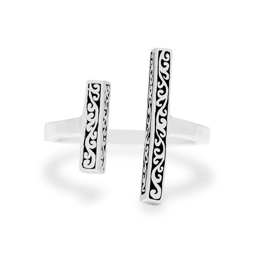 Sterling Silver Double Bar Cutout Negative Space Ring (Lois Hill 2019)