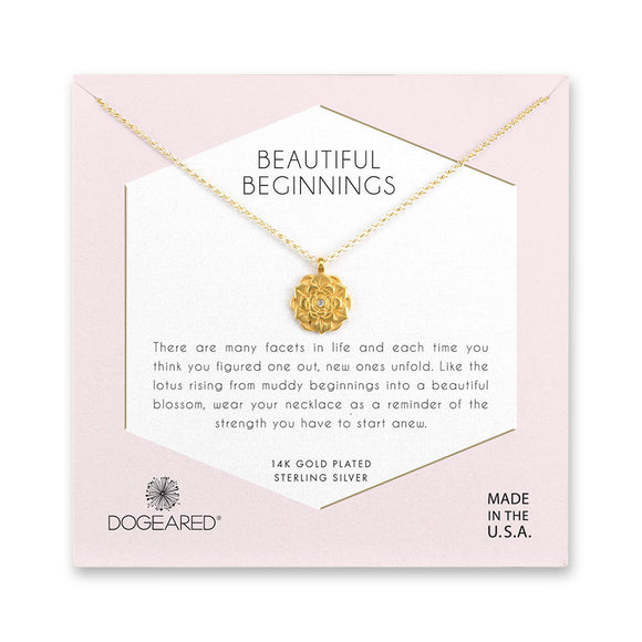 Buy DOGEARED | BEAUTIFUL BEGINNINGS | PENDANT NECKLACE | STERLING SILVER & 14K GP | Shop DOGEARED only at Avonlea Jewelry.