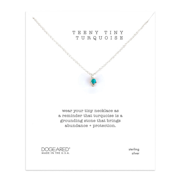 DOGEARED | TEENY TINY TURQUOISE NECKLACE | STERLING SILVER