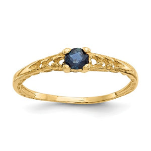 Buy Baby Jewelry | September / Sapphire | Baby Ring | 14K Yellow Gold | Madi K | Shop Madi K only at Avonlea Jewelry.