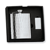 8 Ounce Stainless Steel Gift Boxed Flask & Money Clip Set