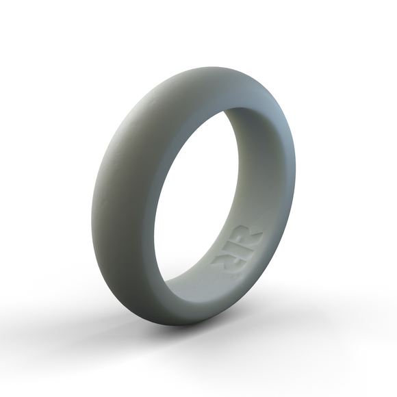 Women's Gray Silicone Wedding Ring