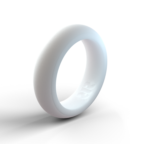 Women's White Silicone Wedding Ring