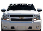 AVALANCHE Windshield Decal Banner sticker