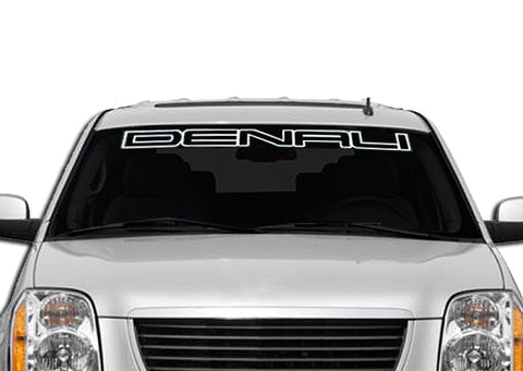 DENALI OUTLINE STYLE Windshield Decal Banner sticker
