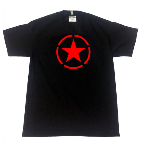 RED US STAR T-SHIRT