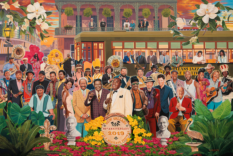 Making History: Watch Scott Guion Paint the 2019 Jazz Fest Poster