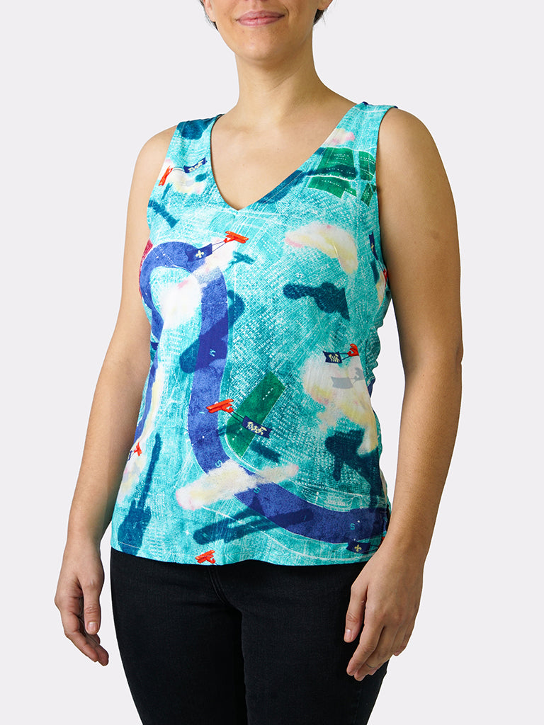 Tricentennial Map BayouWear Camisole Front
