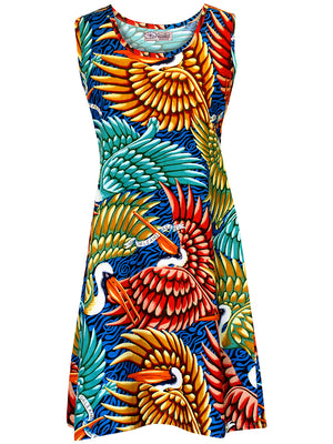 Sun Dress - Birds of Paradise Print