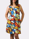 Jazz Fest Rag BayouWear Sun Dress Front