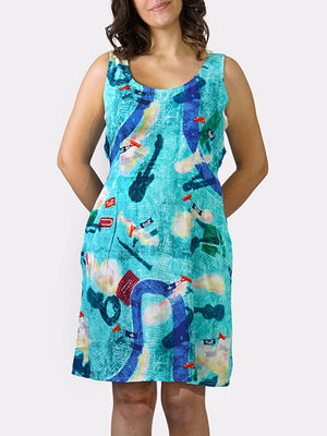 Tricentennial Map BayouWear Dress Front