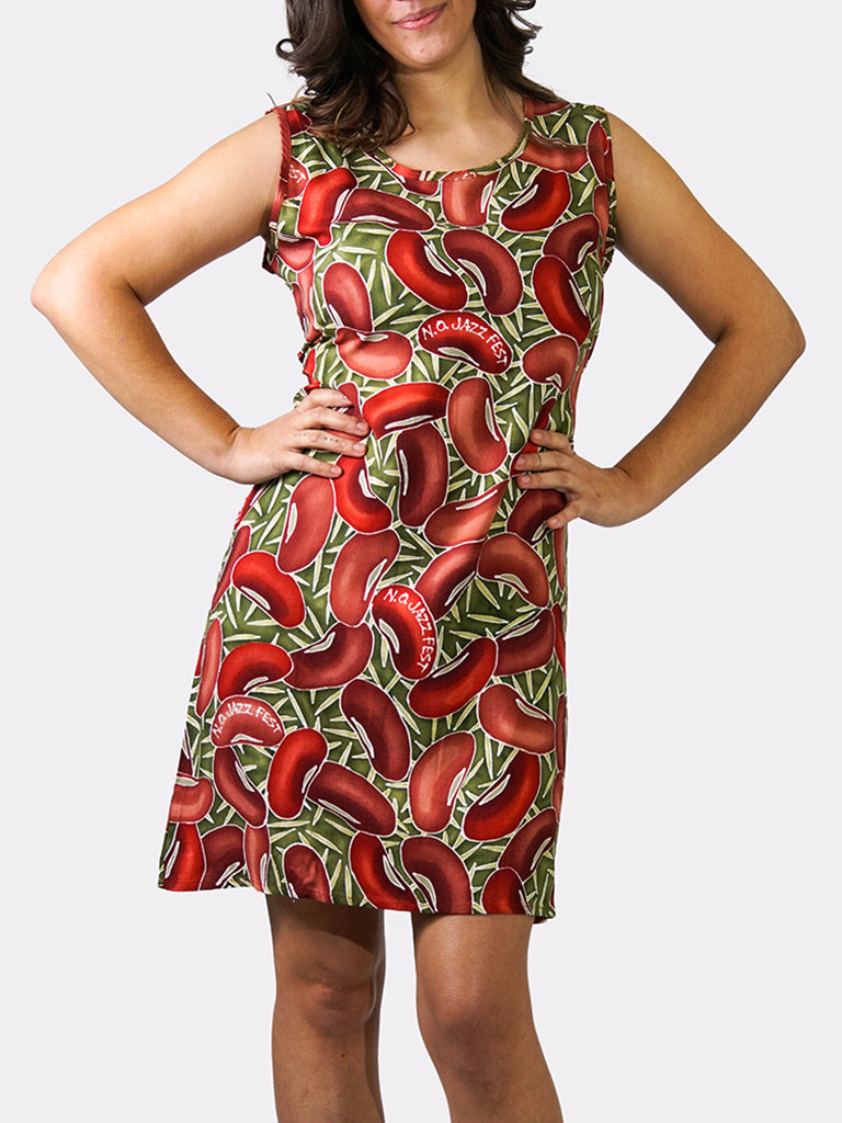 Red Beans BayouWear Sun Dress Front