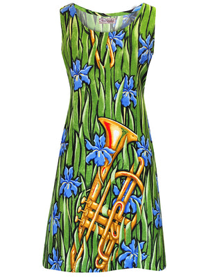 Sun Dress - Splendor in the Brass Print