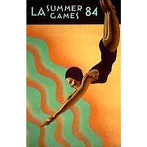 Los Angeles Summer Games Diver