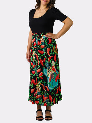 Guitar BayouWear Long Skirt Front