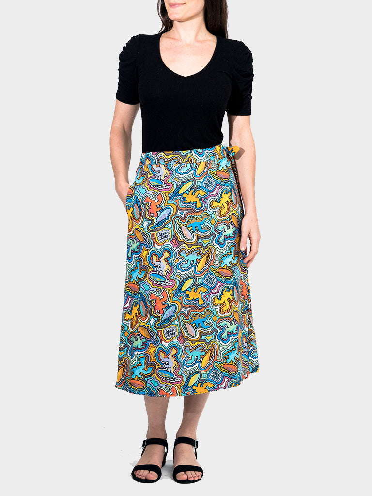 Logo-a-Gogo BayouWear Long Wrap Skirt Back