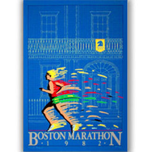 Boston Marathon 1982 Poster