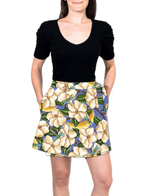 Mini Wrap Skirt - Moonlit Magnolias