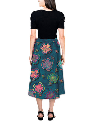 Maxi Wrap Skirt - BeeBop Buzz
