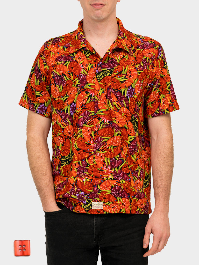 Crawfish BayouWear Hawaiian Shirt Mens Front