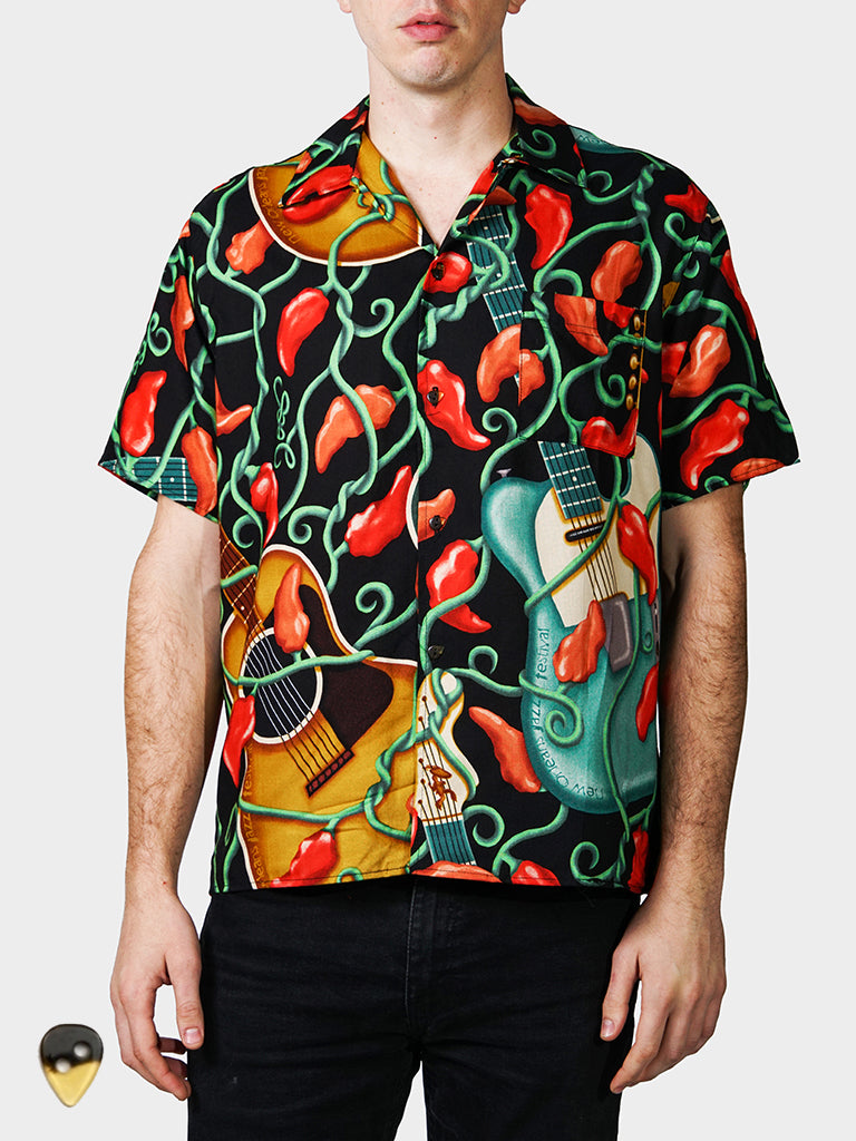 Guitar BayouWear Hawaiian Shirt Mens Front